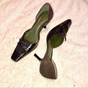 Ann Taylor Lace Up d'Orsay Heel
